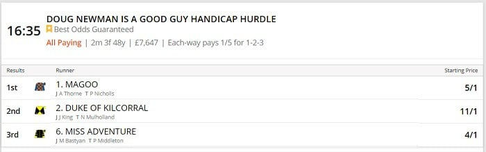 what happens when a horse has a higher SP but you bet using best odds guaranteed