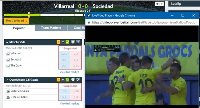 bet in play while watching live streaming