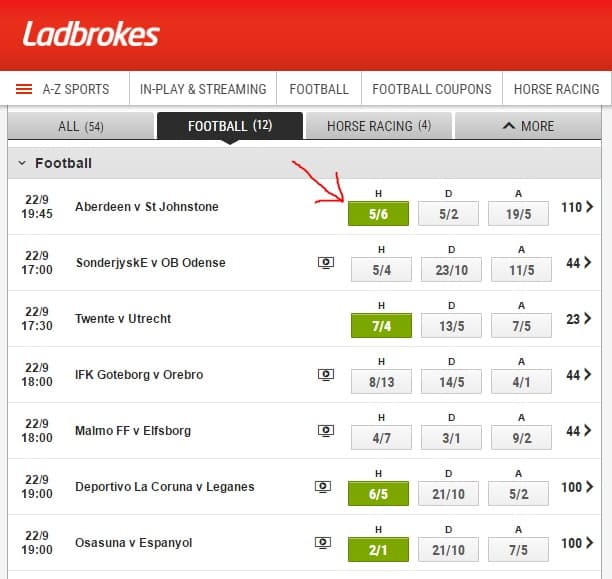 create ladbrokes accumulator