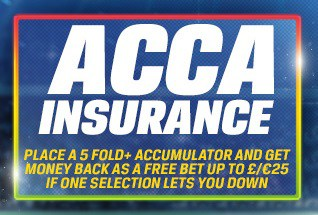 which bookies do acca insurance and on which sports?