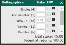 what are the best bookies for lucky 15