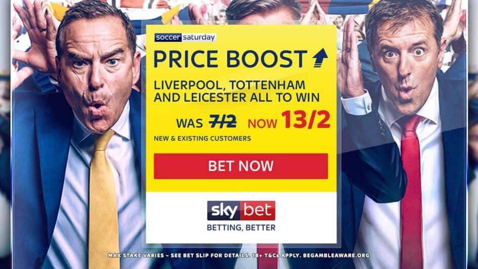 skybet soccer staurday price boost