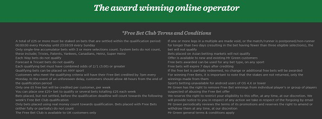 free bet club terms and conditions