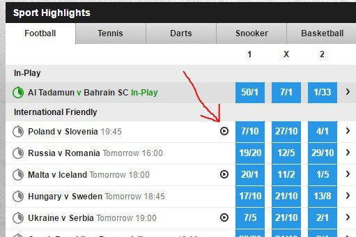 how to watch Betfair live football