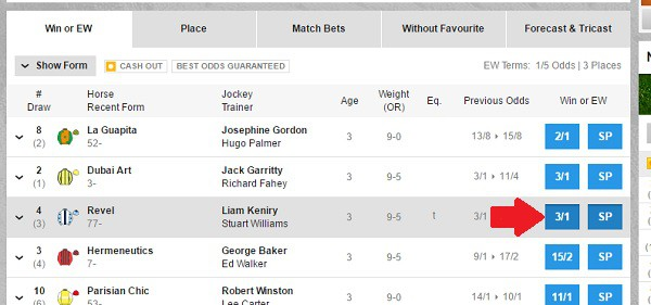Betfair each way edge can be used on any UK horse race